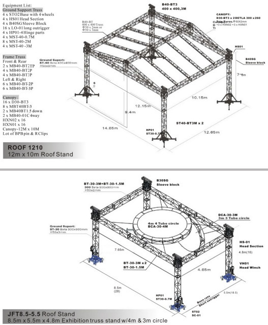 China Truss System Roof 1210 Jft 8 5 5 5 Roof Stand