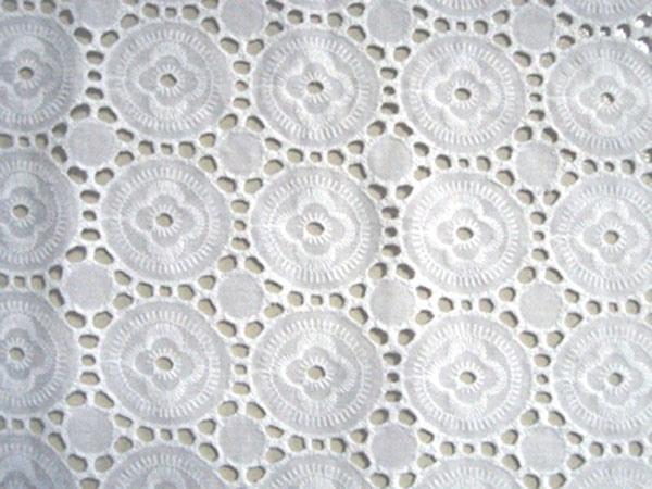 China c embroidery eyelet fabrics
