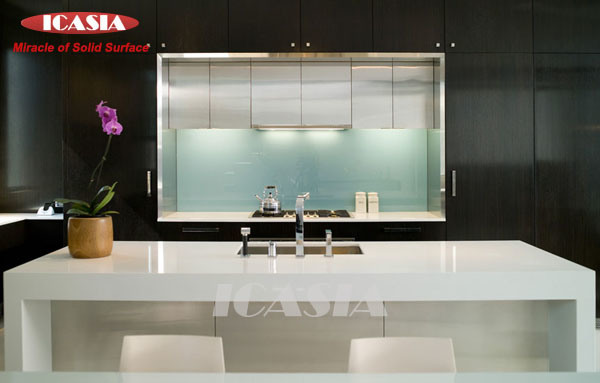 Solid Surface Top For Kitchen : Solid Surface Kitchen Top & Countertop - China Kitchen Counter Top ...