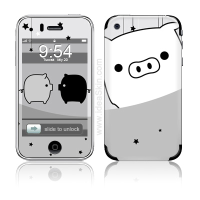 iphone 3gs white and black. 3G/3GS - Black/White Pig