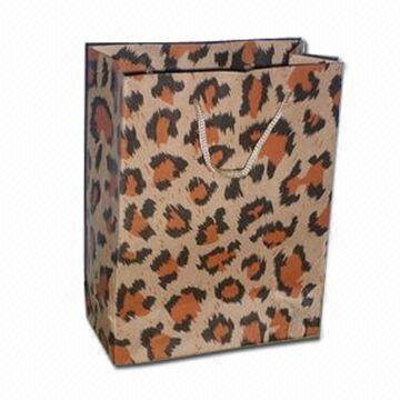 Promotional Paper Bag With Leopard Print Pattern (HPSB-0031
