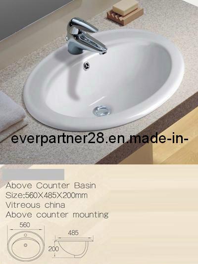 Above Counter Ceramic Washbasin, Ceramic Cabinet Basin