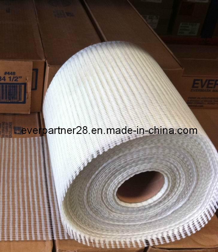 Texturized Fiberglass Mesh Fabric for Stone/Mosaic/Granite Mounting, 4X5mm, 80g, 0.3X400m/Roll