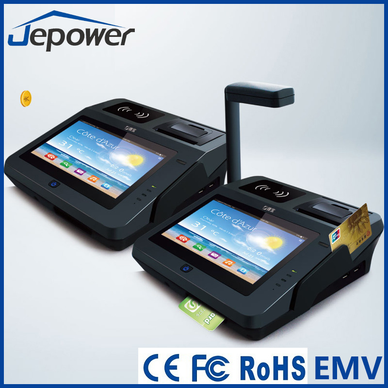 Jp762A Android System POS Terminal with Thermal Printer/ Card Reader/NFC/2D Barcode/3G