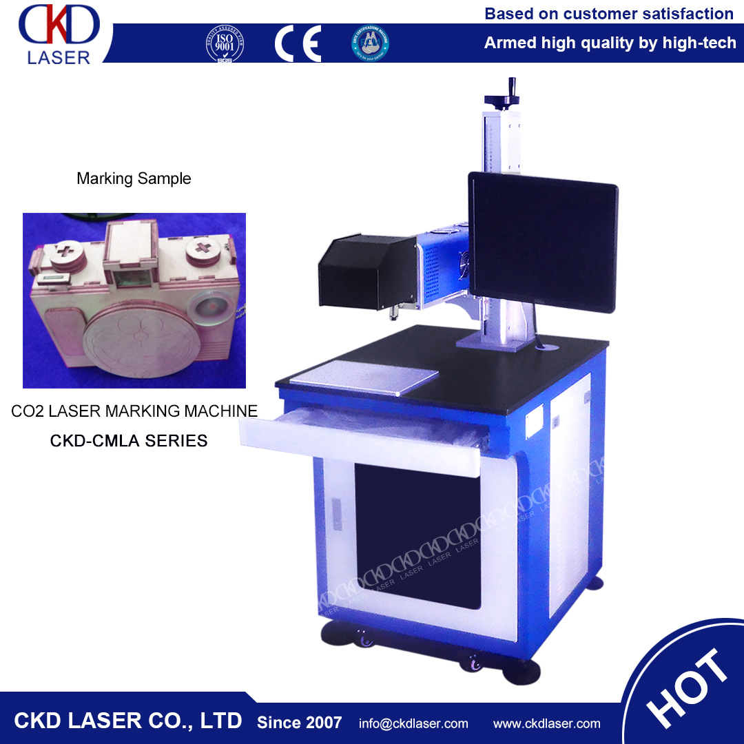 Easy Operation CO2 Laser Carving Marking Machine for Leather PU Wooden