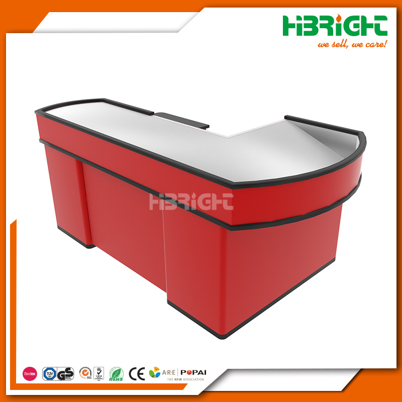 Supermarket Grocey Retail Store Checkout Cashier Counter with Electronic Conveyor Belt