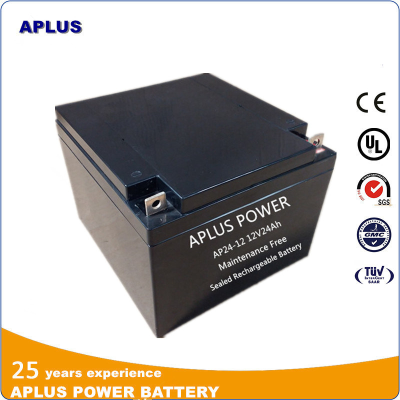 European Market Popular Model 12V 24ah Solar Batteries for Backup