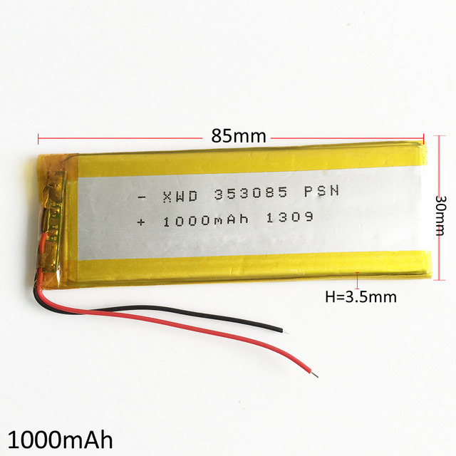 1000mAh Lithium Polymer Rechargeable Battery 3.7V 102050 KTV Household Batterymicrophone Audio Computer Microphone GPS