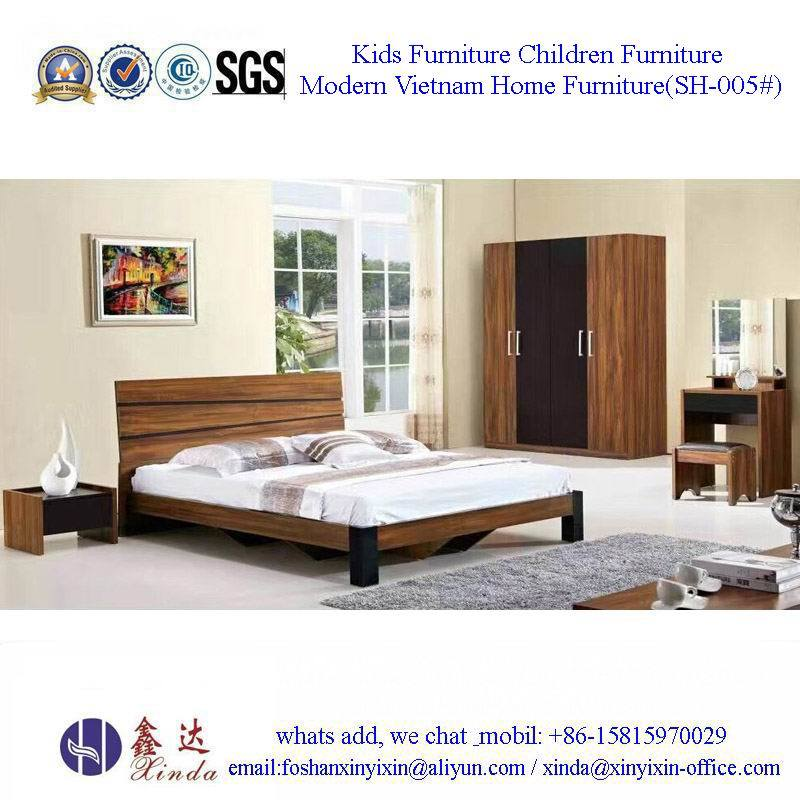 China Bedroom Furniture Modern Single Bed with Leather (SH-001#)