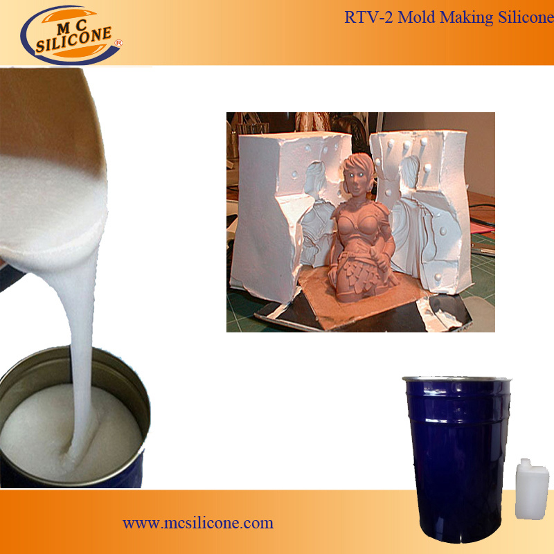 Liquid White RTV-2 Silicone Rubber for Gypsum Cornice Mold Making