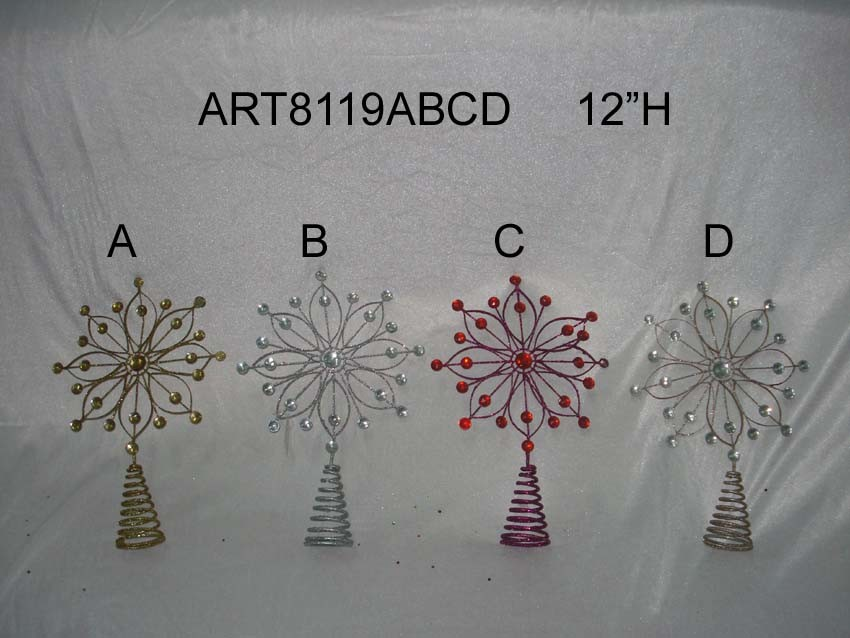 Merry Christmas Metal Treetop Gifts & Crafts-6asst