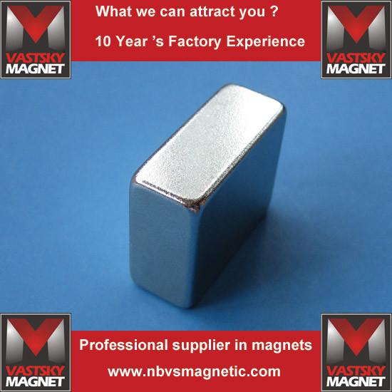 Powerful Industrial Sintered Rare Earth Magnets of N45 N48 N52