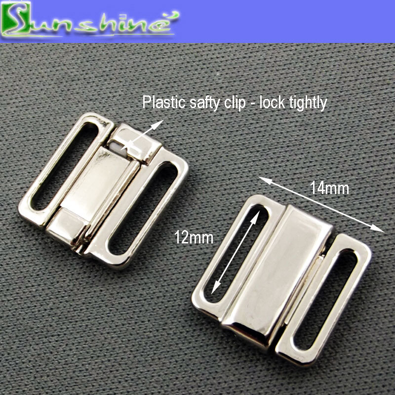 12mm Bra Metal Clip in Silver Gold Black Gunmetal