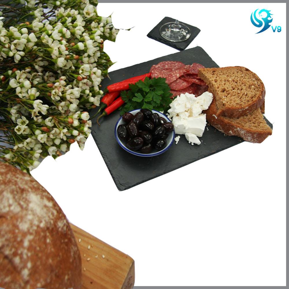 Square Shape Natural Eco Black Slate Cheese Board