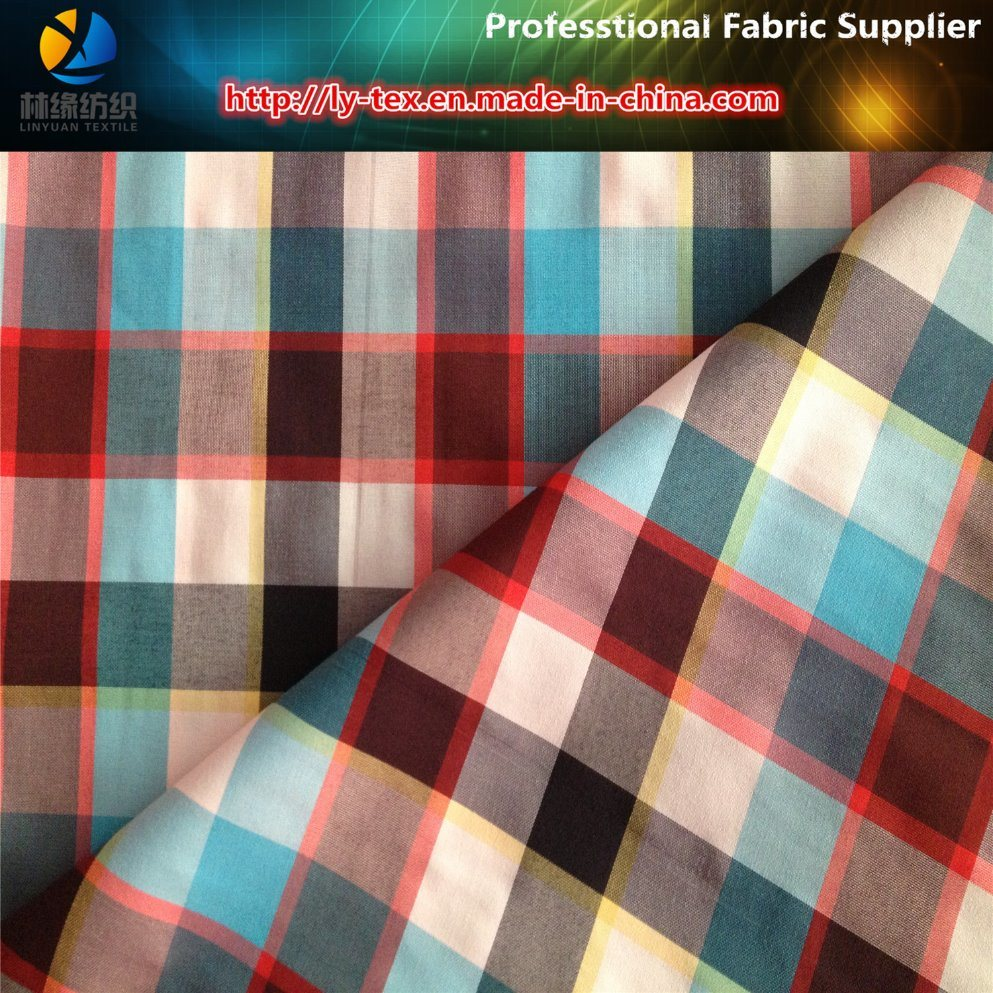 Nylon Yarn Dyed Check Fabric with Quick Dry for Beach Pants, Taslon Handfeeling (YD1097)