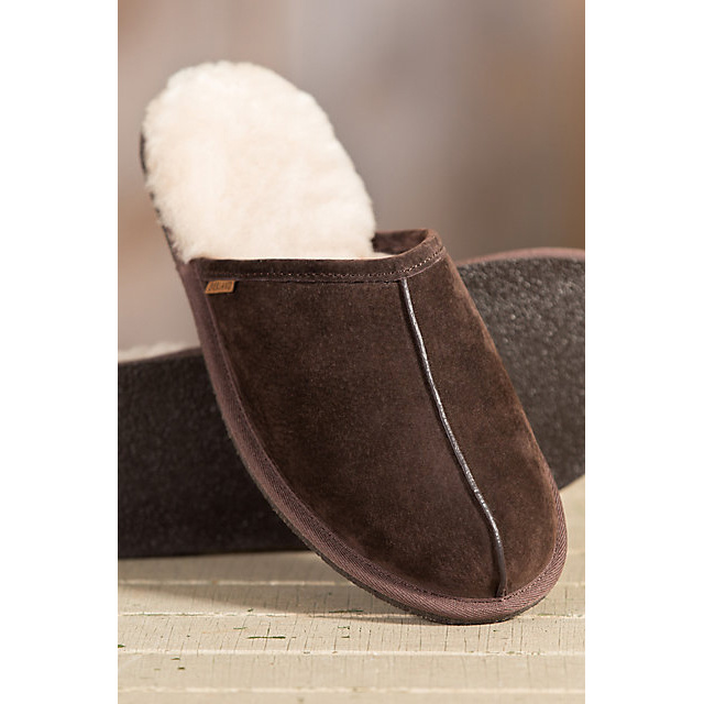 Men′s Sheepskin Scuff Sheepskin Slippers