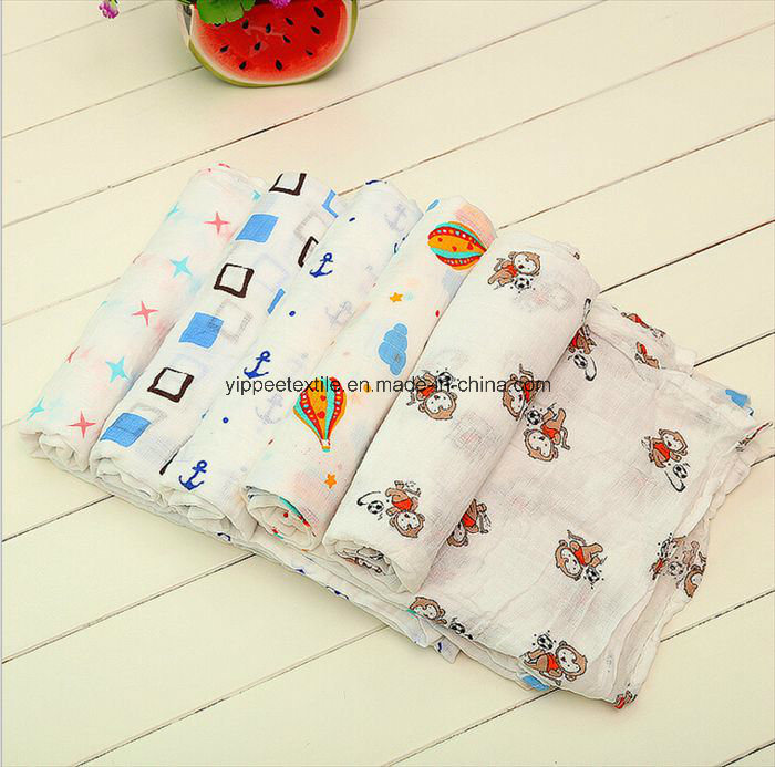 Newborn Baby Muslin Blanket with Pretty Designs
