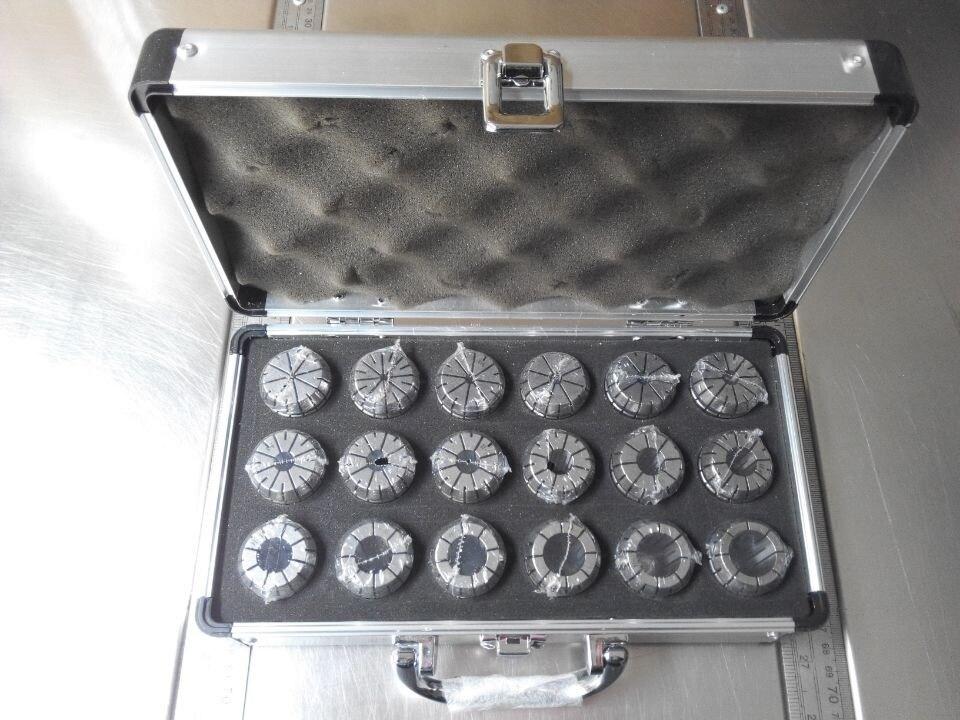 Cutoutil Er32 18PCS 3-20mm 0.015mm Precision Collet Set Er Collet Set