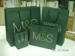 Hand Packing Carrier Shopping Paper Bag