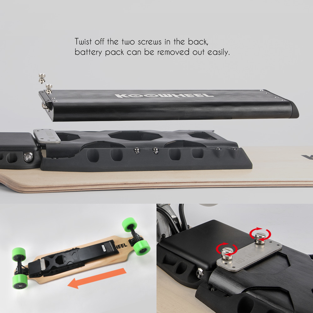 USA Germany Local After Sale Service Skateboard with Samsung Detachable Battery
