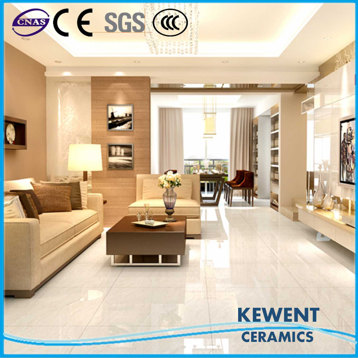 Promotion Natural Stone Series White Doule Loading Polished Porcelain Tile