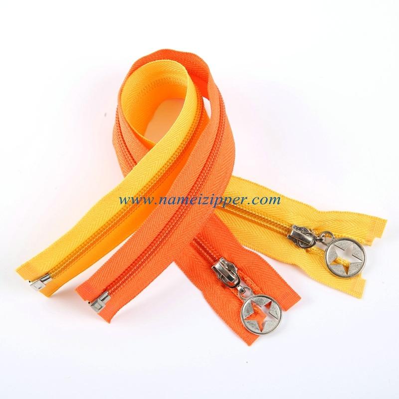 No. 5 Nylon Zipper Auto Lock Slider Open End