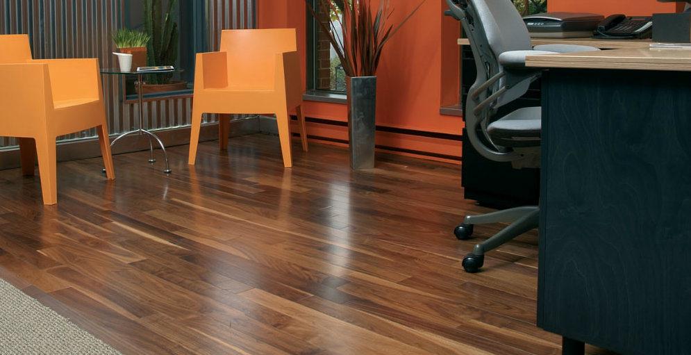 Household Engineered American Walnut Hardwood Floor