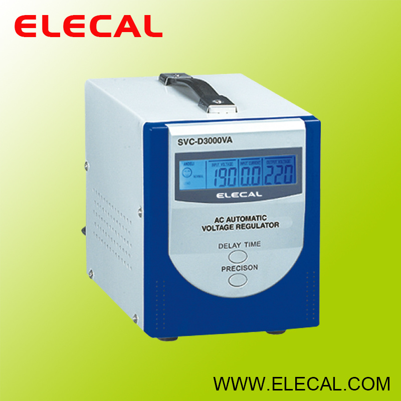 SVC-D (LCD) Series Fully Automatic a. C. Voltage Regulator