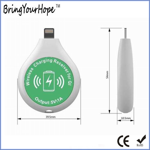 Mini Fashion Design Wireless Charging Receiver (XH-PB-051R)