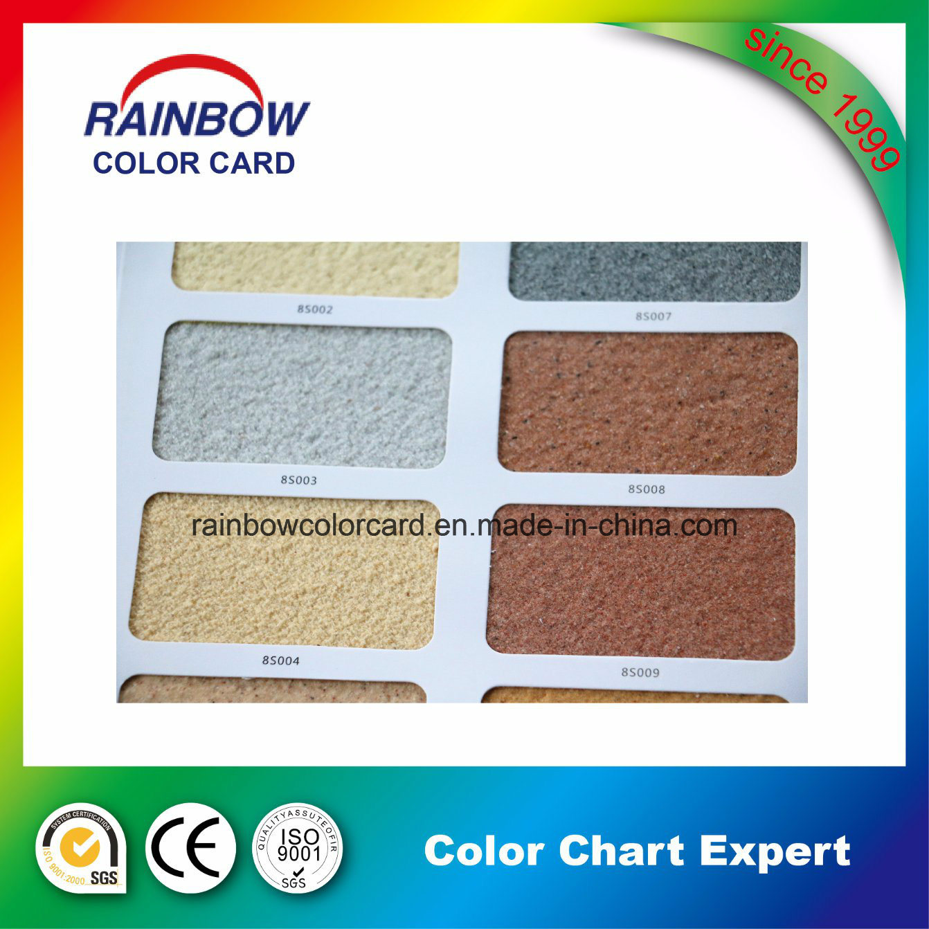 Colour Paper Card for Real Stone Paint