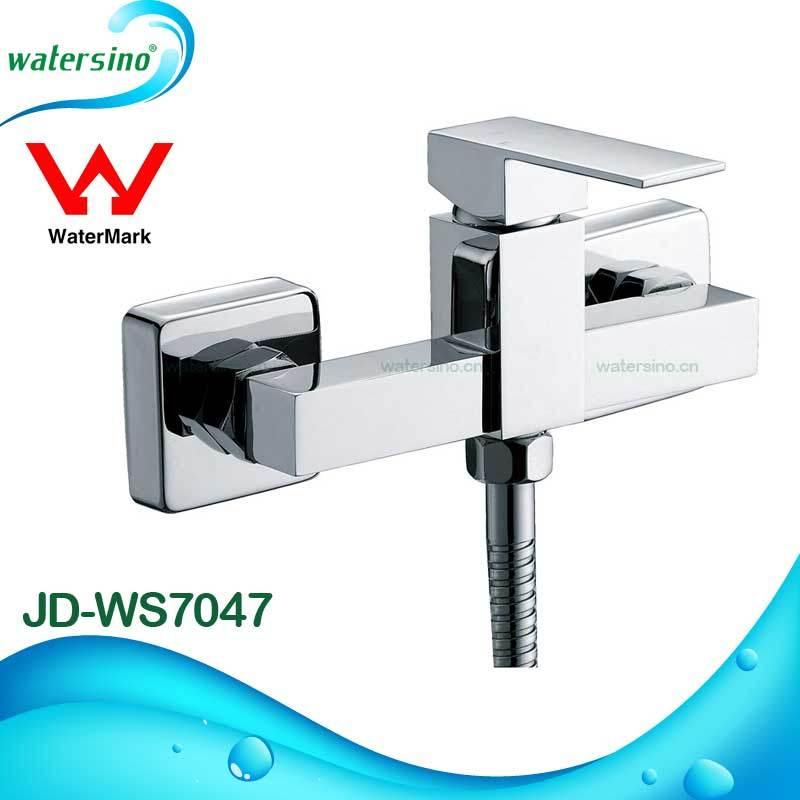 Brass Square Wall Mounted Shower Mixer Bathtub Shower Set