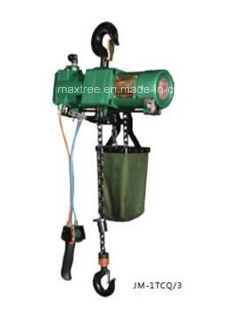 1t/2t Quality Performance Pneumatic Air Chain Hoist with Ce Factory