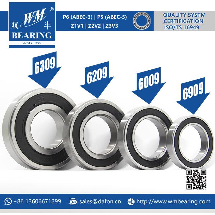 6309 6209 6009 6909 2RS 2rz Emq Motor Bearing