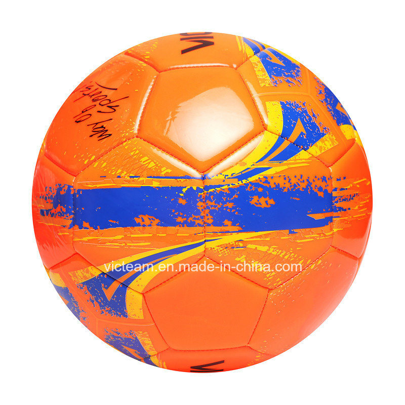 Entry Level Good Stitched Orange PVC Foam Football