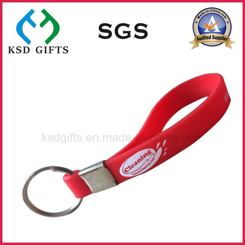 Promotional Rubber Silicone Key Chain/Keychains/Key Holder/Key Tag