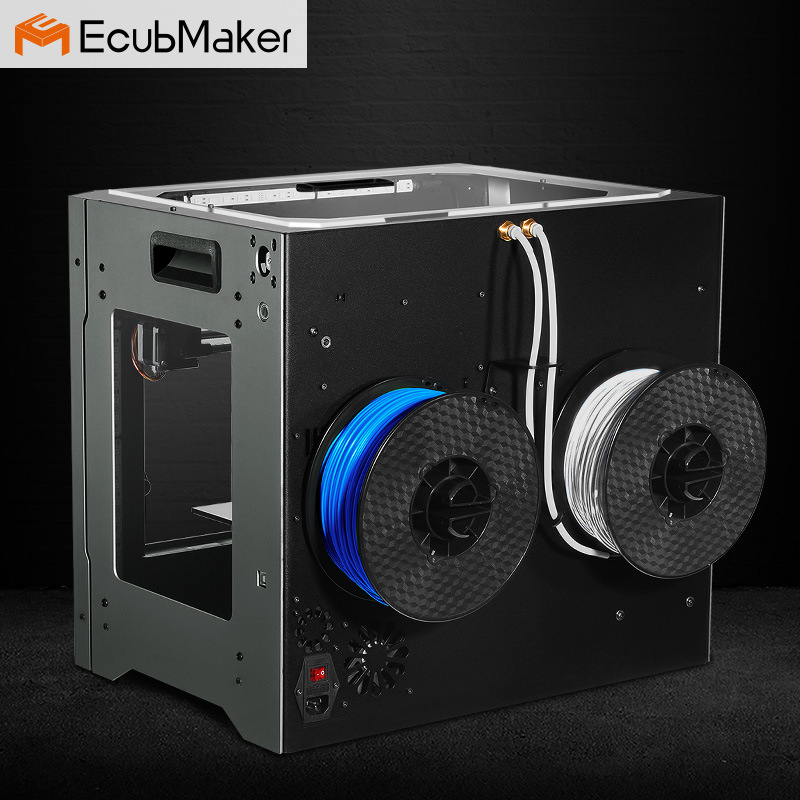 Ecubmaker Metal Plate Type and Digital Printer Type 3D Printer for Personal Printing Plastic Moulding