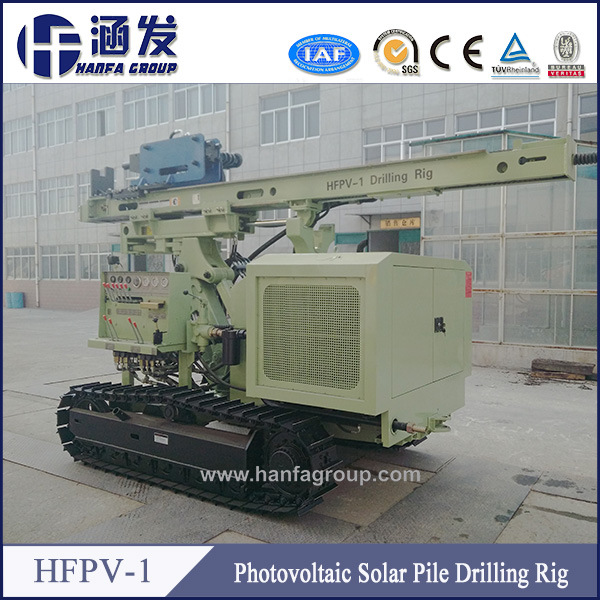 Professional Industrial Guardrail Hydraulic Press Crawler PV Solar Pile Driver