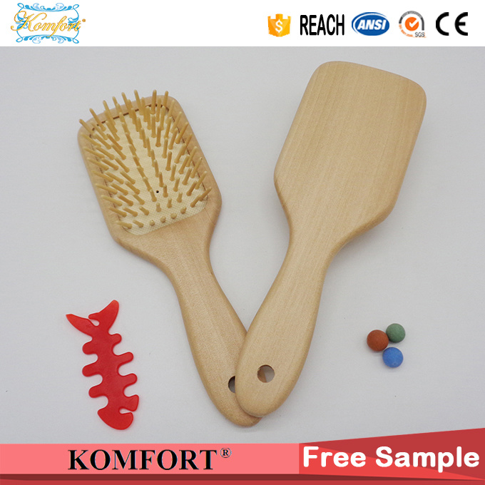 Detangling Comb Wholesale Custom Wood Paddle Hair Brush China Manufactures (JMHF-126)
