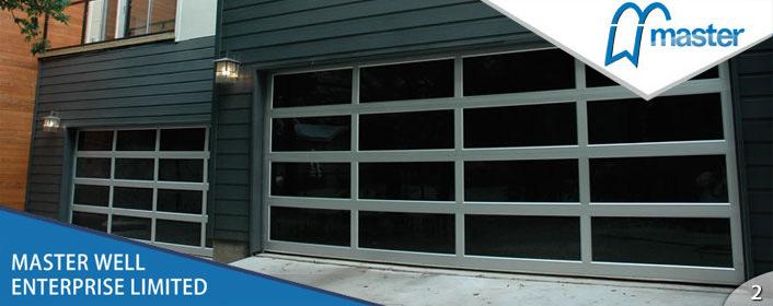 Sectional Aluminum Alloy Glass Garage Door Price