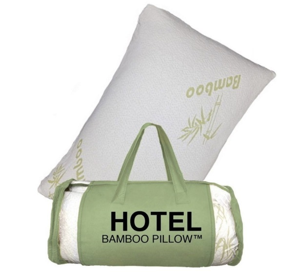 Shredded Memory Foam with Original Bamboo Fiber Cover Pillow