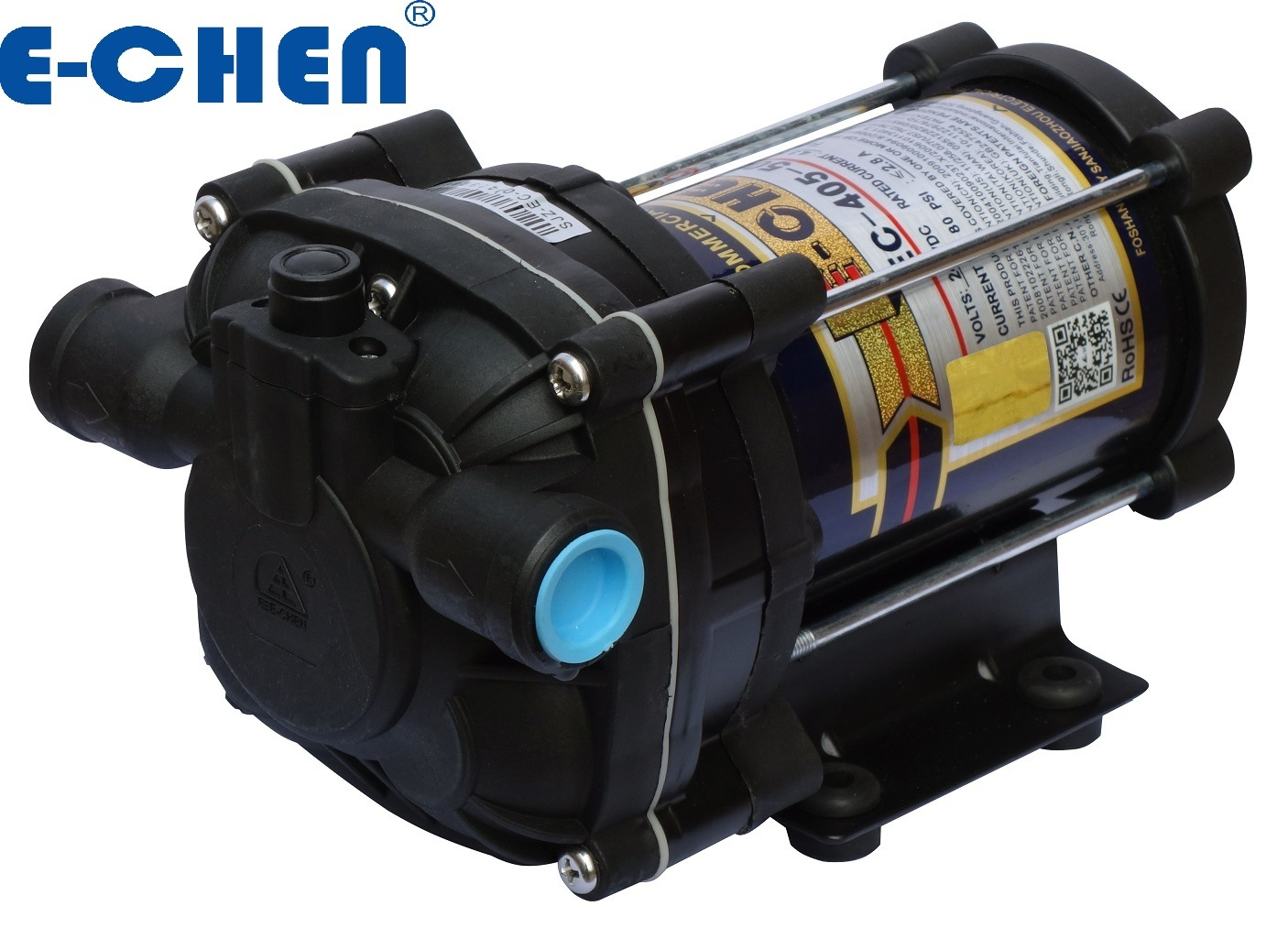 E-Chen Diaphragm Booster Pump 500gpd 3.2 L/M Commercial Reverse Osmosis System