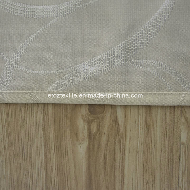 New 100% Polyester Shrinkage Jacquard Window Curtain