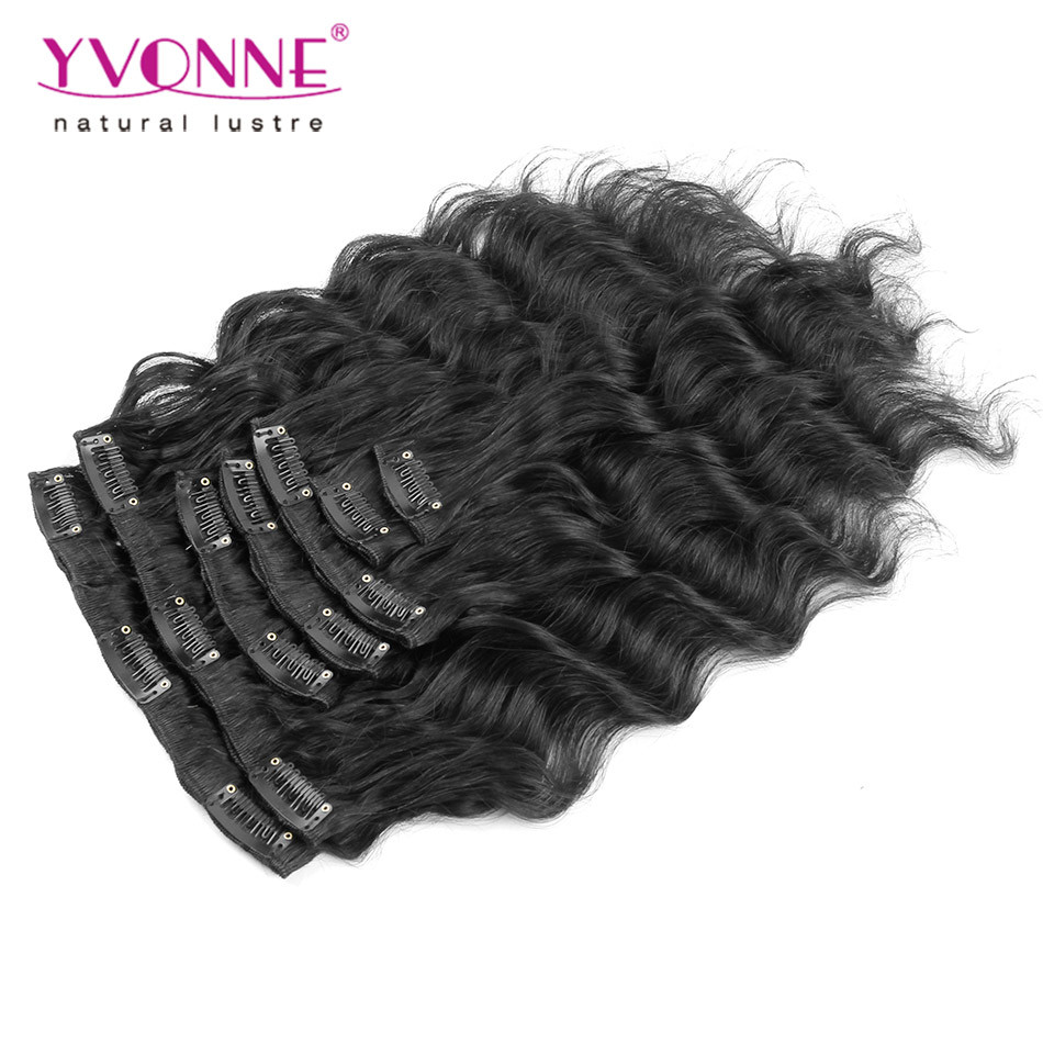 Loose Wave Brazilian Clip in Hair Extensions