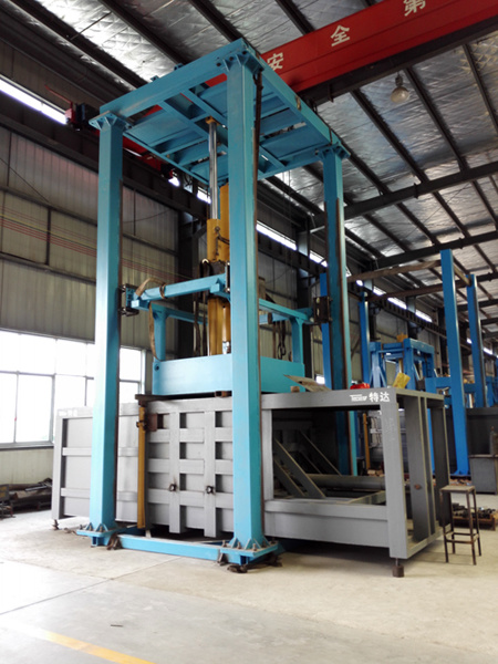 Three Bar Linkage Verticle Garbage Compression Station
