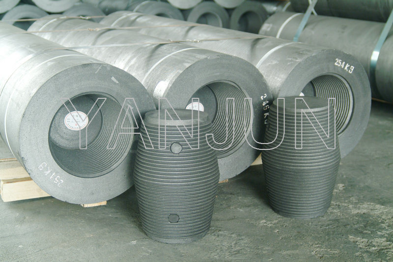 Dia150-600mm Graphite Electrodes with Nipples