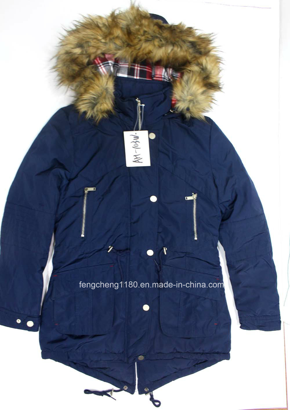 Ladies Winter Padding Jacket / Coat with Detachble Fur Hood