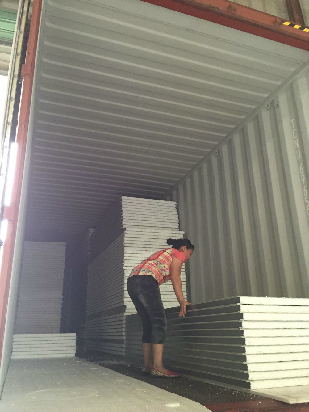 heat insulated sound proof eps foam wall panels for warehouse