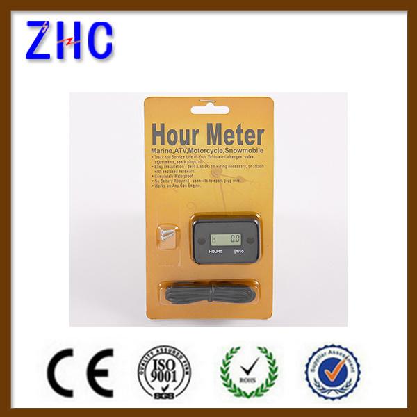 Waterproof IP68 Digital LCD Display Engine Hour Meter 12V