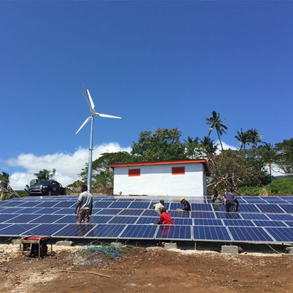 Anhua Professional off Grid Solution Plan with Wind Turbine and Solar Panel