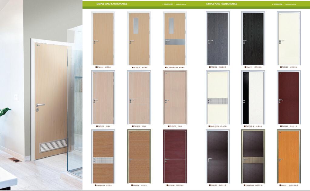 Italian Wood Door Design, Interior Office Door, Simple White Door Design
